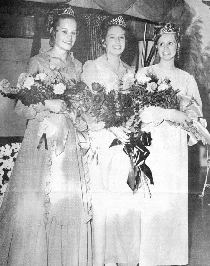 1973: Toni Prudich (C) was named Miss Sunnyside concluding the annual Sunshine Days celebration. Her princesses were Cindy Smith (L) and Paula Howell (R).