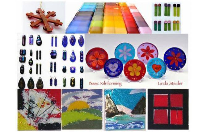 GLASS ARTIST Linda Steider works in fused glass.
