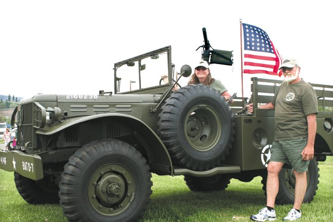 Theresa and John Shearer, of Wenatchee, restored their military-spec 1943 Dodge in just nine months. The vehicle was restored as a tribute to World War II veterans, John Shearer said.
