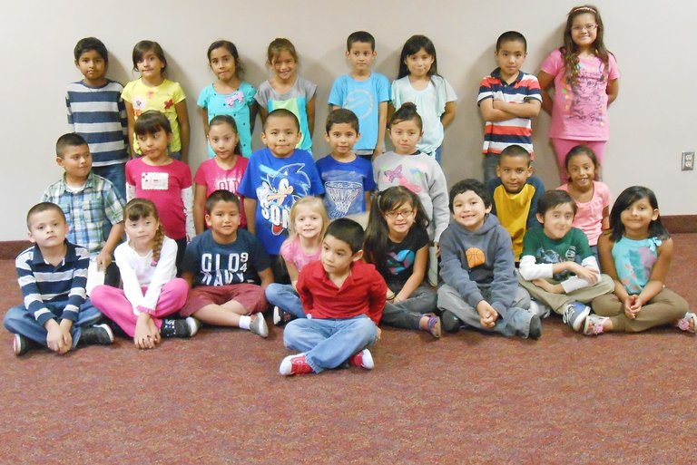 Sunnyside's Washington Elementary School first and second grade students for the month for September are (front row) Alan Avalos; (second row L-R) Alexis Hernandez, Perla Magana, Juan Ortega-Perez, Lila Rice, Doralee Lopez-Lopez, Miklo Bravo-Alviso, Jahir Silva and Vanessa Carrillo; (third row L-R) Emmanuel Gurrola, Alexandra Esquivel, Angelique Gomez, Salvador Lugo, Cain Rodriguez, Liaunah DeLara, Noah Reyes and Nevaeh Chavez; (back row L-R) Joseph Granados-Zurita, Alondra Ortiz-Mercado, Vianey Jimenez, Taylor Lewis, Jesus Penaloza, Emily Islas, Andre Contreras and Viviana Gomez. Not pictured: Syrina Arevalo and Victor Mercado.