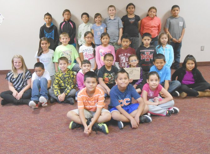 Sunnyside's Washington Elementary School third through fifth grade students for the month for September are (front row L-R) Isaiah Ayala, Ramon Adame and Julyssa Larios-Sanchez; (second row L-R) Hailey Schlosser, Jesus Gonzalez, Rene Garza, Rubi Madrigal, Xzavian Moncivaiz, Vivica Frausto, Zaiyah Moreno and Brisayes Contreras; (third row L-R) Brianna Mendez, Cannon Hauver, Karla Chavez,  Daisy Lopez, Joshua Zurita, Dakotah Lewis and Hyacinth Cabrera; (back row L-R) Devin Villalobos, Natalia Becho-Cortes, Gonzalo Palafox, Hennessy Rodriguez, Ryker Hazzard, Jesell Perez, Jaylin Almaguer and Isaiah Isquierdo. Not pictured: Diogo Diaz and Ashley Kubera.