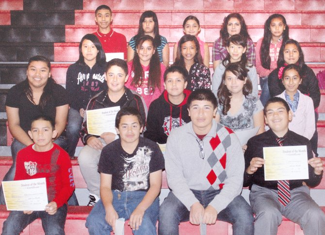 Sunnyside's Harrison Middle School students of the month for September are (front row L-R) Pedro Hernandez-Linares, Rudy Mindieta, Eduardo Mirando and Alexis Dominguez; (second row L-R) Lillian Mora-Ruiz, Osman Licea, Steven Salazar-Ruiz, Andrea Barcenas and Janessa Gomez; (third row L-R) Kasandra Alvarez, Giselle Garcia, Karina Vega, Rebekah Gomez and Julianna Montiel; (back row L-R) Jose Garcia, Danixa Velasco, Jennifer Mendez, 