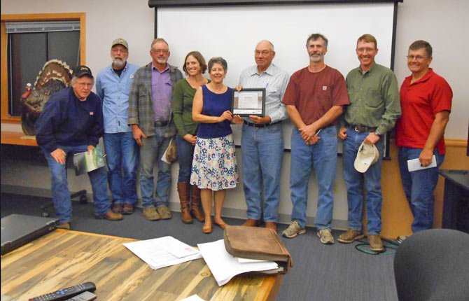 LANDOWNERS AND MEMBERS of the Fifteenmile Watershed Council were recently honored by National Oceanic and Atmospheric Administration. 	Contributed photo