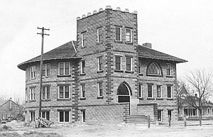 The addition to the Sunnyside Fire Department station that is currently being built is on ground once occupied by this three-story church, dedicated in 1912. Pieces of the foundation of the c