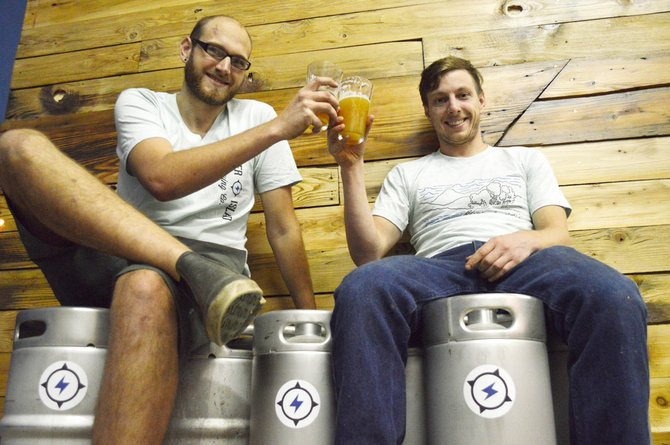 Dave Lipps and Dan Hynes of Thunder Island Brewing
