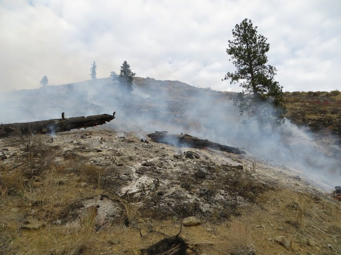 The Pete's Canyon Fire was contained late Tuesday to in the North Fork Gold Creek drainage basin southeast of Twisp.
