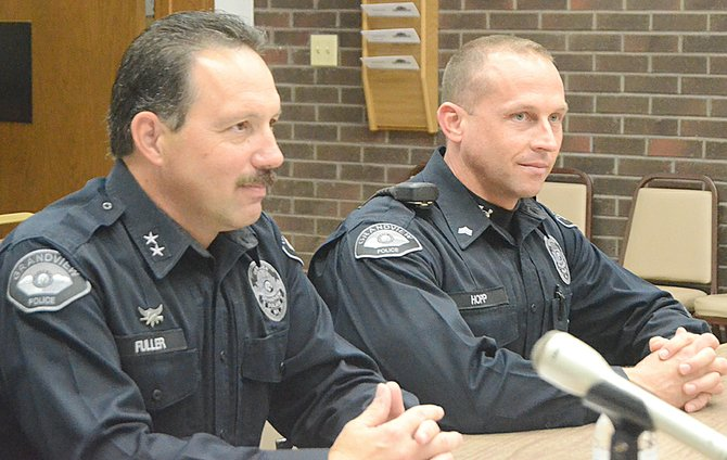 Grandview Assistant Police Chief Kal Fuller (left) will become the city's police chief on Jan. 1 and Sgt. Mike Hopp (right) will be promoted to assistant chief on Dec. 1.
