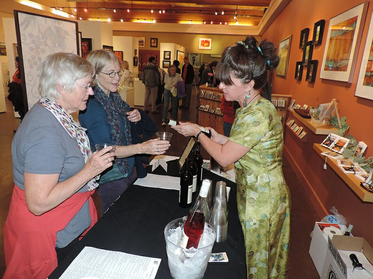 WINE in the gallery is the Friday night combo at Columbia Art Gallery this month.