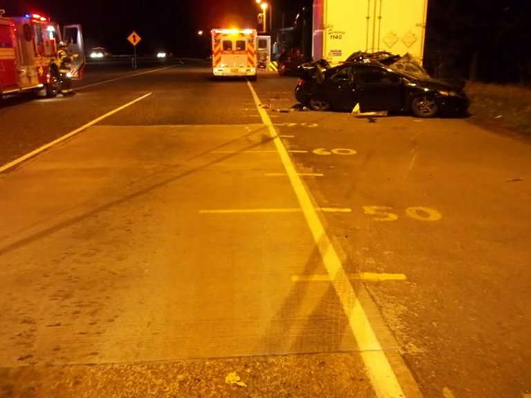 OCT. 17 WRECK at Wyeth truck weigh station on I-84 has claimed the lives of two men.
