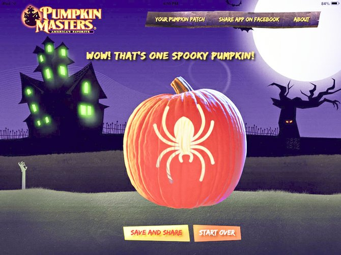 Besides letting you and your family create scary or funny or seasonal pumpkins for your virtual pumpkin patch, the Pumpkin Master app also gives you an encouraging message when you've completed your creation.
