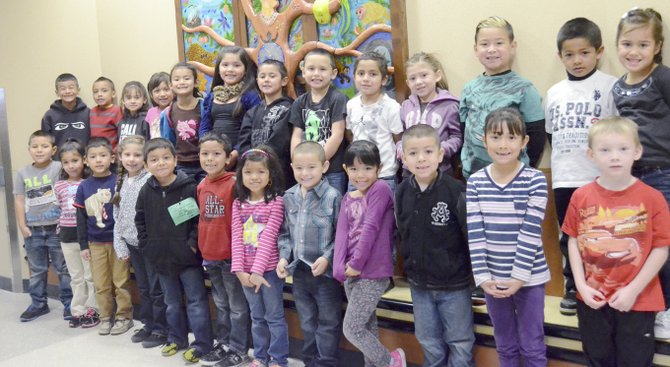 Sunnyside's Sun Valley Elementary School students for the month for October are (front row L-R) Adrian Gonzalez, Angela Rodriguez, Jose Hernandez-Romero, Yhadira Cardenas, David Ambriz, Damian Candido, Jennavicia Herrera, Christian Gomez, Zecysalustia Licona, Ricardo Hernandez, Natali Torres and Ike Weets; (back row L-R) David Juan Cuevas, Jonathan Licona Gomez, Destiny Figueroa, Jasmin Reyes-Dominguez, Karina Casas-Blanco, Navaey Martinez, Jonathan Chaidez, Anthony Madrigal, Giovanni Ramos, Emmi Garcia, Neomiah Lopez, Andrew Huerta and Lili Briones. Not pictured is Samantha Cortez.