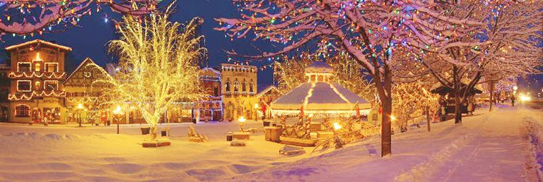 The Christmas lighting at Leavenworth has been praised by the Today Show, Time, the Travel Channel and Good Morning America.
