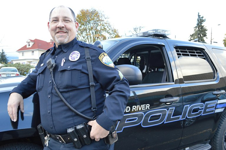 SERGEANT ANDREW RAU has 22 years of experience with the Hood River Police Department; he and his family enjoy all the things Hood River has to offer.