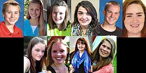 Idaho County Achievement Award Winners 2013 Top Row (L-R) : Jarret Nuxoll, Kooskia; Katrina Wolfrum, Grangeville; Colby Canaday, Grangeville; Lauren Goldman, Grangeville; Mitchel Nuxoll, Kooskia; Savannah Thanstrom, Grangeville. Bottom Row (L-R): Laurel Henry, Ferdinand; Rachel Mager, Grangeville; Rachael Ringer, Grangeville; Emily McHugh, Cottonwood.