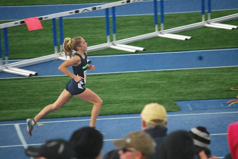 Sascha Bockius finished sixth overall at 5A at the 2013 state track and field championships at Lane Community College in Eugene.