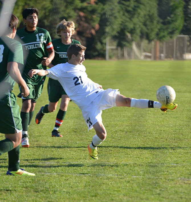 Giovani Magana was named Columbia River Conference boys soccer player of the year for 2013.