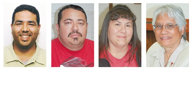 Left to right: Mario Martinez, Mark Gourneau, Sophie Sotelo and Oping Hutson