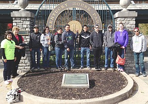 Mabton FFA chapter members tour the Kentucky Horse Park. Traveling to Louisville, Ky. recently were (L-R) Minerva Morales, Nancy Nickels, Michael Jaramillo, Jessica Vasquez, Crystal Cruz, Edson Rivera, 