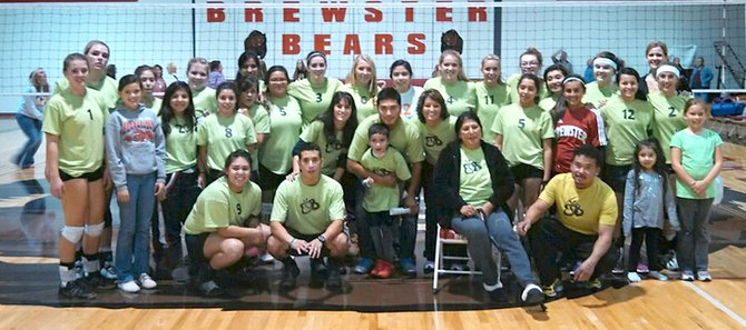 Volleyball players at the Tonasket at Brewster match Oct. 29 wore special T-shirts to bring awareness of Epidermolysis Bullosa. The nephew of Naly Diaz suffers from the rare genetic connective tissue disorder that leaves the individual with extremely fragile skin that blisters and tears.