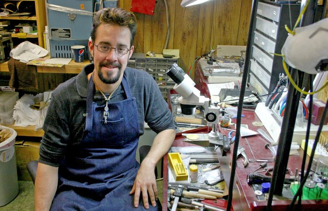 Adam Ungar, the new jeweler at J.D. Smith Jewelers at 503 E. Second St. in The Dalles, enjoys exploring old-world techniques.