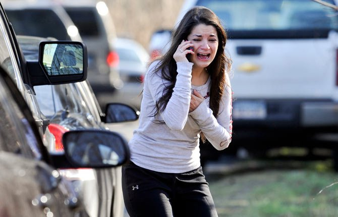 Carlee Soto reacts as she learns her sister, Victoria Soto, a teacher at the Sandy Hook Elementary School, was one of 26 people killed in a shooting at the school in Newtown, Conn. on Dec. 14. In recent years, America has had many scenes of mass shootings. None put gun control back on the national agenda in a serious way. Then came the elementary school massacre in Newtown, Conn., after the election, and that all changed.