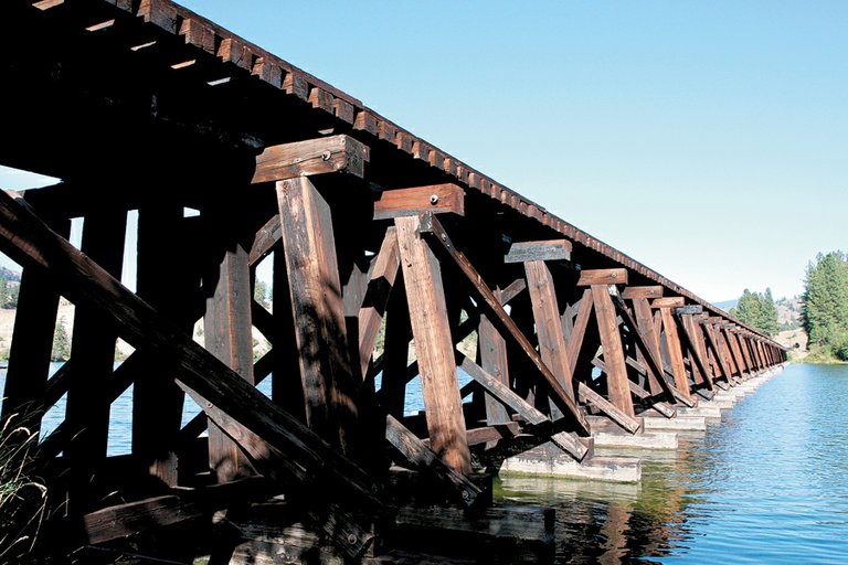 The trestle over Curlew Lake is getting a spruce-up.