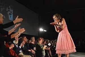 Roller Girl Faye Spounder (say it aloud) blows runway kisses.