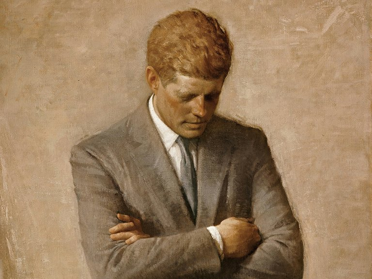 Official presidential portrait of John F. Kennedy.