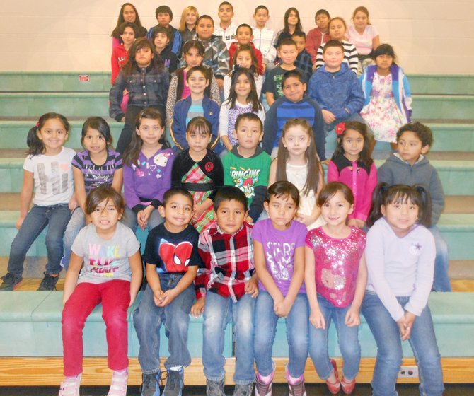 The Outlook Elementary School students of the month for November are (front L-R) Maricela Garcia, Eduardo Madrigal, Cesar Dominguez, Sofia Valdovinos, Briehanna Marlyze Quintero and Angela Farias-Jimenez; (second row L-R) Jaslynn Almaguer, Cassandra Bustos, Brianna Gonzalez Salgado, Emma Farias, Yair Licona, Alondra Guerrero, Jazlyn Torres and Elias Licona; (third row L-R) Luis Gomez, Isabella Bueno and Joshua Carbajal; (fourth row L-R) Yesenia Garcia, Emily Jara Castellanos, Anna Alvarez, Isaac Marchello, Billy Joe Francis and Sara Acevedo; (fifth row L-R) Alexis Paniagua, Jazlyn Gonzalez, Oscar Ramos, Andy Fernandez, Alex Corona and Leslie Moreno; (back row L-R) Genesis Garcia Lesso, Elias Flores, Sadie Perez, Francisco Sanchez, Fernando Medina, Lisbeth Gomez, Carlos Contreras and Monica Gomez. Not pictured are Gonzalez, Jayden Allec, Jennifer Garcia, Brandon Tolentino, Ruben Espino, Naomi Gonzalez, Kevin Lara, Ashley Flores, Jayden Miranda, Melina Rivera, Ana Aguayo, Samantha Magallon Paredes and Harley Porter.