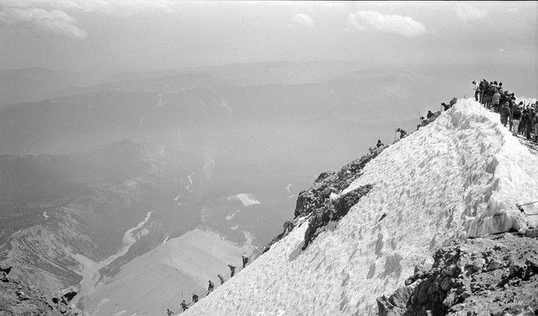 Every year in the 1930s and 1940s, Alva Day recorded the annual Mount Hood climbs guided by the American Legion.