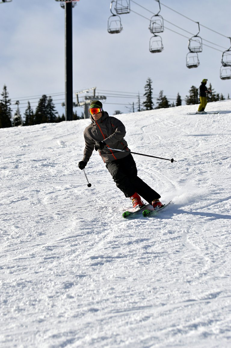 THE FIRST TURNS of the season at Mt. Hood Meadows Ski Resort were Saturday, during a limited opening of the resort's most mellow terrain. The slopes will open again Friday.