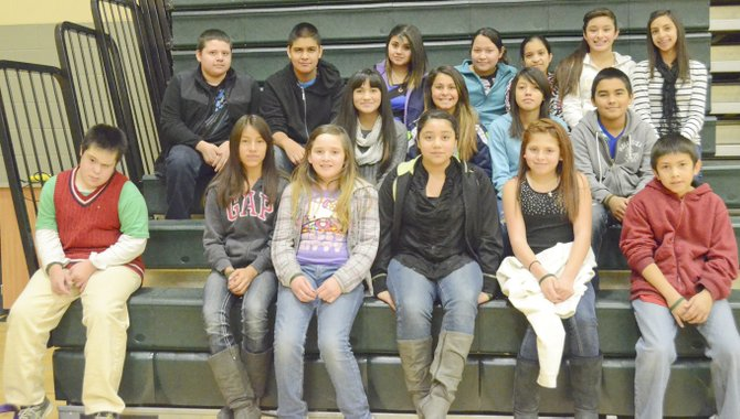 Sunnyside's Sierra Vista Middle School students for the month for November are (front row L-R) Angel Bautista, Yaritzy Hernandez, Wendy Mancia, Lourdes Torres, Ruby Alvarez and Juan Macias; (middle row L-R) Brianna Toscano, Samantha Galindo, Alexis Rodriguez and Ricardo Hererra; (back row L-R) Enrique Cruz, Marcos Fernandez, Monique Torres, Andreina Ramirez, Teresa Silva, Maira Galvan and Sierra Cavazos. Not pictured: Jesus Medina and Jose Martinez.