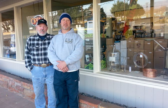 OWNERS RICK Farris and Larry Keller are celebrating their second anniversary as Keller Brew Supply by expanding into new showroom space at 1800 W. 10th St.