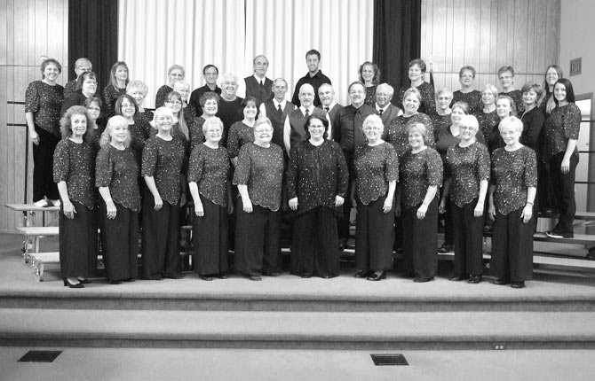 The Dalles Worship Choir will be doing four concerts this December, starting with a performance tonight, Friday, Dec. 6, at First Christian Church at 7 p.m.   Contributed photo