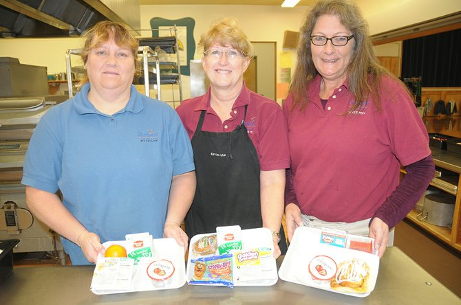 Chartwells employees at Grangeville Elementary Middle School are (L-R) Pam Bryant, Deb Ringer and Maureen Burney.