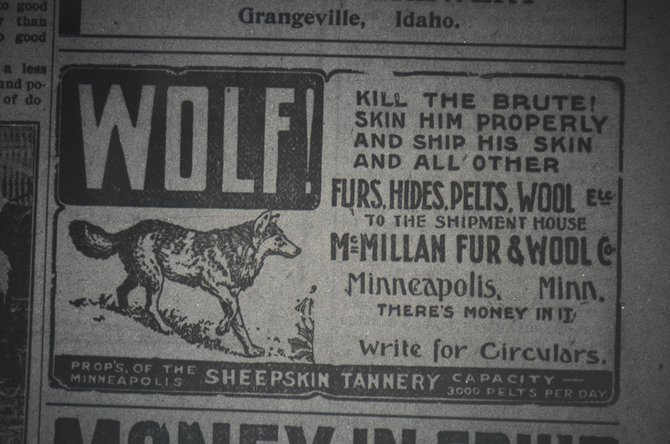 An advertisement from a 1912 edition of the Idaho County Free Press.