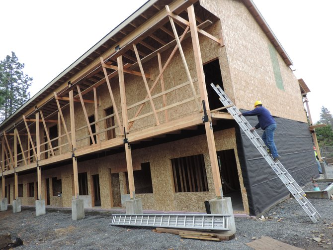 TWO-STORY, 9,000-square-foot new wing goes up along the east side of the Vagabond property on Westcliff Drive.