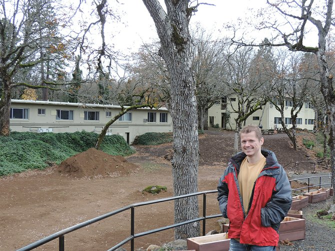 VAGABOND OWNER Grant Polson  is working throughout the fall and winter to improve the grounds and Columbia River overlook on the north side of the 7-acre property.