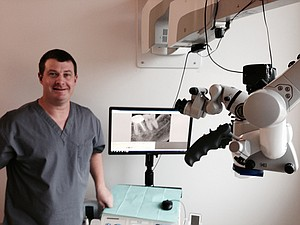 ENDODONTIST Travis Chapman says he's thrilled to be located at the Hood River waterfront.