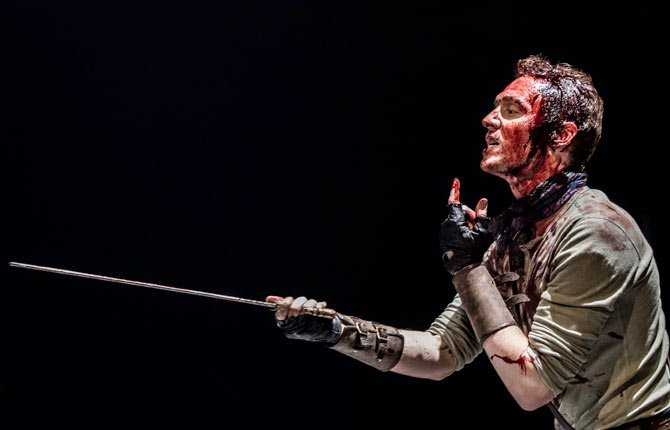 "Actor Tom Hiddleston stars as Coriolanus in William Shakespeare's play, being performed at The Donmar warehouse in London. The British actor has returned to his classical stage roots with an acclaimed starring role in William Shakespeare's ""Coriolanus."""