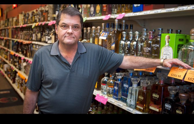 MARK FREEMAN, owner of liquor stores in The Dalles and Hood River, says privatization initiatives being considered by the Northwest Grocery Association would put at risk the 1,200 employees of 249 independently owned Oregon liquor stores.