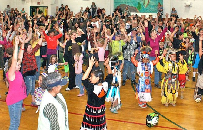 South Wasco County School District received a Wasco County Cultural Trust Coalition grant to help put on the Redsides Pow-wow, pictured here.  Contributed photo