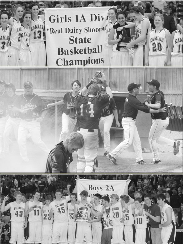 Among six champions in 2013 area high school team sports were the Kamiah girls basketball squad (with its first ever title), the Grangeville boys basketball squad (with its first since 1974) and the Grangeville baseball squad (which won three thrilling games to nab the 2A championship).