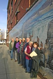 Four murals get new lighting in heart of downtown the for Mural lighting