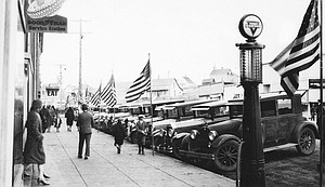 A Cottonwood street scene during a 1920 Fourth of July celebration.