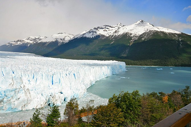 """THE GLACIER STRETCHED infinitely up into the Andes . . ."" Perito Moreno, an advancing glacier along Lago Argentino, in South America."