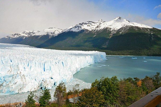 """THE GLACIER STRETCHED infinitely up into the Andes . . ."" Perito Moreno, an advancing glacier along Lago Argentino, in South America."