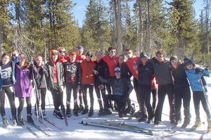 HRVHS NORDIC members pose for a photo over the weekend at a race in Bend. The team hosts a home race Jan. 18.
