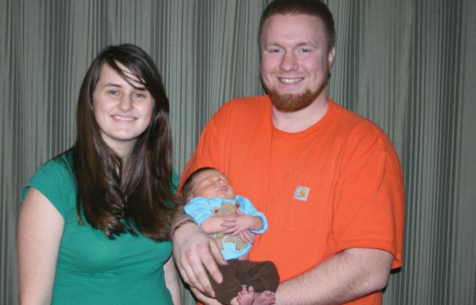 MATTHEW SEAN Gorton, center, was born at 7:33 p.m. on New Year's Day to proud parents Michael and Tasha Gorton of The Dalles.