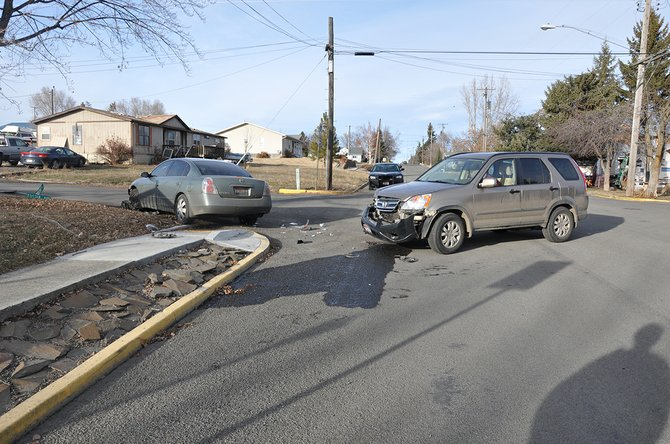 Failure to yield was cited as the cause of a Jan. 6 two-car injury accident at Lewiston and Foster streets in Cottonwood.